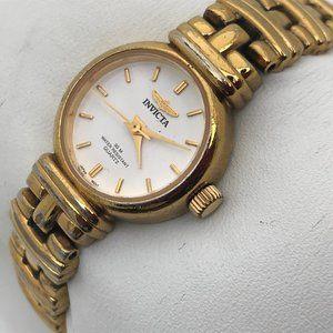 Invicta Vintage Ladies Watch Gold Tone Analog Japa
